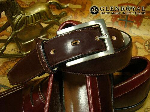 GLENROYAL / グレンロイヤル ●BRIDLE LEATHER DRESS BELT CIGAR/HAVANA/06-5480-CIGAR HAVANA/ダ...