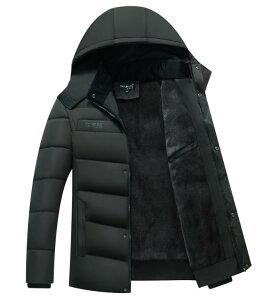 中綿ジャケット 裏起毛ジャケット 暖かい 防寒保温 男のジャケット ブルゾン メンズ アウター ダウンジャケット 冬服