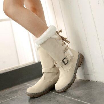 スノーブーツ ハーフブーツ ロングブーツ レザーブーツ スエード 編み上げ ブーティ レディース 裏起毛 美脚ニーハイブーツ ボア ショートブーツ 暖かい 冬靴 秋冬 シューズ ロング丈 フィット boots 女性