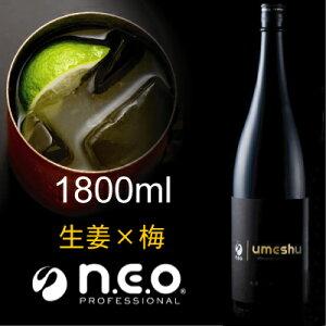 極上梅酒「うぐいすとまり」と「ネオジンジャーシロップ」が融合したネオシリーズ初のリキュー...