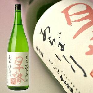 【限定流通酒】淡いピンクの早春はさっぱりキレてほのかに甘い。早春 特別純米生原酒 あらば...