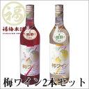 紀州南高梅と熊野地方の清水をもちいて造り上げました【南高梅使用】梅ワイン2本セット ロゼ・...