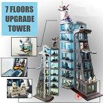 レゴ互換品スーパー・ヒーローズアベンジャーズタワーの攻撃(7階建てver)ヒーロー出動!