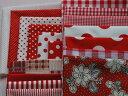 1,000円ポッキリ 送料無料 赤い色のカット生地セット【消費税込】