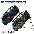【2017秋冬モデル】ロサーセン046-16000スタンド式キャディバッグ9型3.4kgカモフラ柄迷彩ロゴ刺繍Rosasen