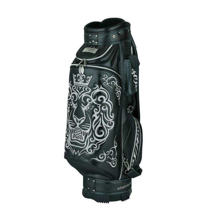 【2019モデル】ウィンウィンスタイル 「キングオブゴルフ ブラック CB-342」KING of GOLF (LION DESIGN)BK CART BAG ゴルフキャディバッグ WINWIN STYLE