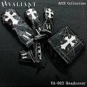 シェリフの姉妹ブランド!ヴァリアント VA-003 アクセコレクション DR/FW/UT/IR/PT用 ヘッドカバー ブラック VALIANT ACCE Collection・・・