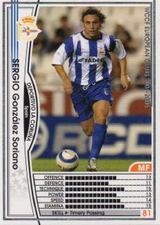 WCCF/04-05/デポルティボ・デ・ラ・コルーニャ/白/202/セルヒオ・ゴンザレス