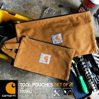 ポーチ2個セットcarharttカーハートメンズ小物入れレディースセットSMSサイズMサイズ2セットTOOLPOUCHSETOF2ツールポーチワークブランド黒かっこいいブラウンカジュアルアメカジストリートペンケース筆箱ケース旅行合宿鞄あす楽対応