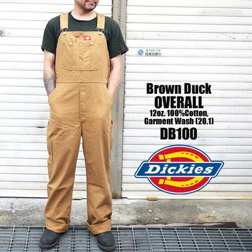 オーバーオール Dickies ディッキーズ DB100 DB-100 Brown Duck ブラウンダック ブラウン ダック ...