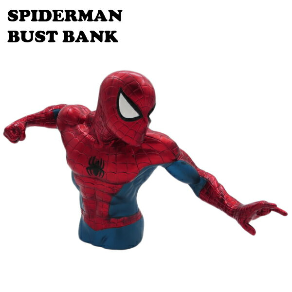 インテリア小物・置物, 貯金箱  MARVEL SPIDERMAN BUST BANK COINBANK