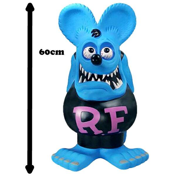 コレクション, フィギュア 100OFFFUNKO H 60cm RATFINK Rat Fink Jumbo coin bank blue