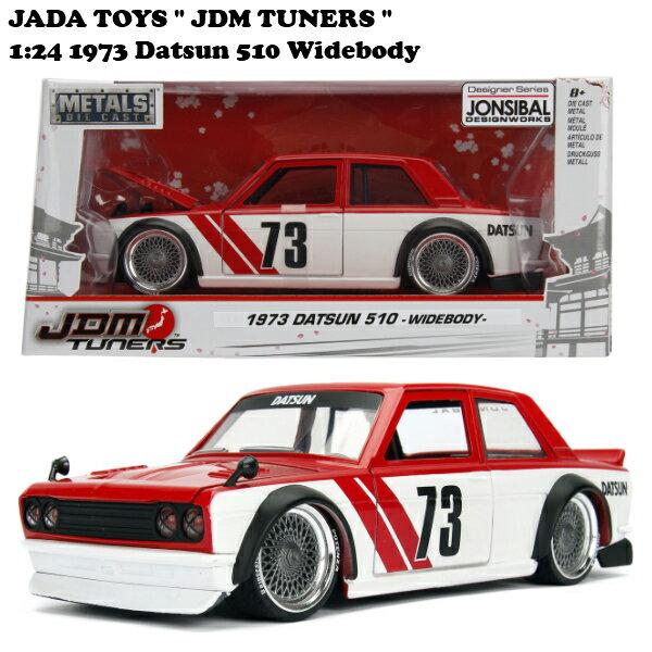 車, ミニカー・トイカー JADATOYS 124 JDM TUNERS 1973 Datsun 510 Widebody glossy red