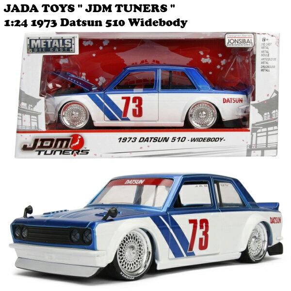車, ミニカー・トイカー JADATOYS 124 JDM TUNERS 1973 Datsun 510 Widebody candy blue