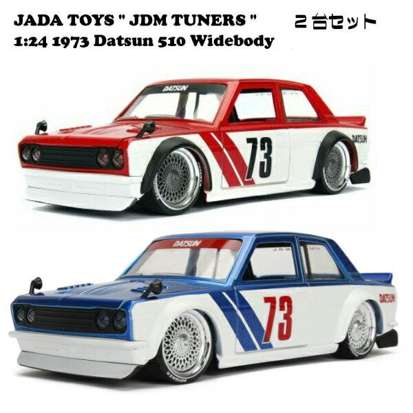 車, ミニカー・トイカー JADATOYS 124 JDM TUNERS 1973 Datsun 510 Widebody candy blue Glossy Red 2