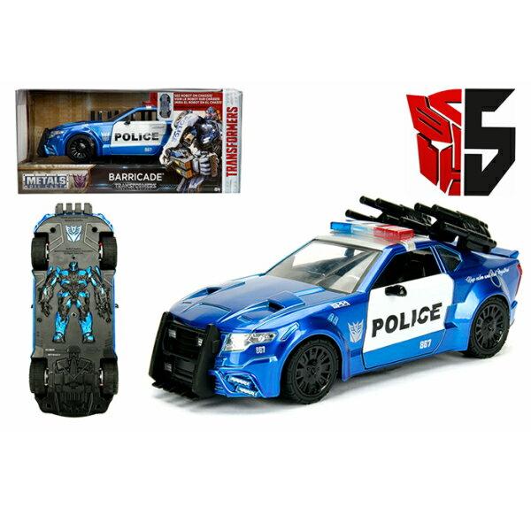 車, ミニカー・トイカー JADATOYS 124 TRANSFORMERS BARRICADE CUSTOM POLICE CAR