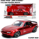 JADATOYS 1:24 1990 MAZDA MIATA【ロードスター】ミニカー 【Candy RED】