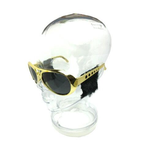 面白サングラス エルビスグラスモミアゲコスプレメガネ変装眼鏡めかねクリスマスハロウィン仮装マスク