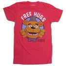 Tシャツt352-sファイブナイツtシャツFIVENIGHTSATFREDDY'SFREEHUGSメンズsUSサイズ半袖TシャツT-SHIRTロゴtシャツアメリカ輸入メンズTシャツレッドアメキャラクターキャラクターグッズ