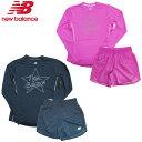 【あす楽対応】ニューバランス(New Balance)レディース ランニングセット(トップス 長袖 Tシャツ ショートパンツ パンツ ズボン ランニング ジョギング トレーニング 運動 スポーツ)AWT0306Y-AWS0308Y