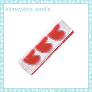 ハートキャンドル-3個入-【誕生日】【ギフト】【プレゼント】【誕生日ケーキ】【ろうそく】【亀山】【kameyama】