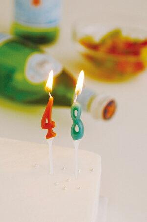 ナンバーキャンドルパステル【誕生日】【ギフト】【プレゼント】【誕生日ケーキ】【ろうそく】【亀山】【kameyama】