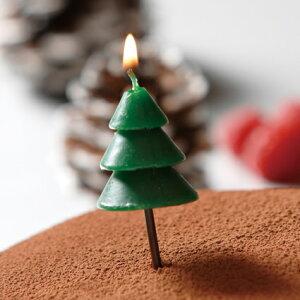 クリスマスキャンドル-ツリー1個入【クリスマス】【パーティー】【誕生日】【ギフト】【プレゼント】【誕生日ケーキ】【ろうそく】【亀山】【kameyama】
