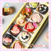 セシボン バレンタイン スイートハートプチケーキ プチフール ホワイト プチタルト プレゼント