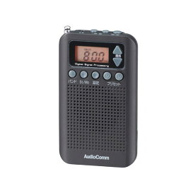 オーム電機 OHM AudioComm DSP FMステレオ/AMポケットラジオ ブラック RAD-P350N-K