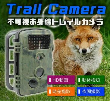 トレイルカメラ 1200万画素 HD動画 CMOSセンサー付きIP54 時差撮影機能 不可視赤外線 HCRD1000