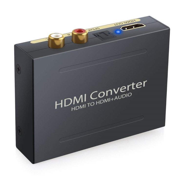 【ポイント5倍 店内全品 4/26 1:59まで】HDMIデジタルオーディオ分離器 HDMI SPDIF RCA 出力 オーディオ 分離器 1080P対応 HDMI2AUD