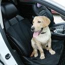 ペットシートカバー ブラック限定 防水仕様 犬ペット 抜け毛やシートの汚れ対策に 撥水座席シート 汚れから車シートを守る シングルタイプ 幅57cm ペットドライブシート TIROL2266 その1