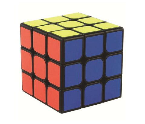 キューブパズル 3×3 6面 コンパクト スピードキューブ 世界基準配色 回転スムーズ 知育おもちゃ 立体パズル 暇つぶし 気分転換 パズルキューブ 魔 MOF30BK