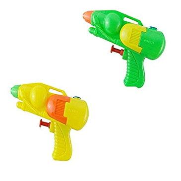 ミニ水鉄砲 2個セット(カラーランダム) 小さな水銃おもちゃ 楽しい夏 子供ウォーターガン キッズサマーアウトドアグッズ 川遊び、キャンプ場、プール、海などに WATG0821