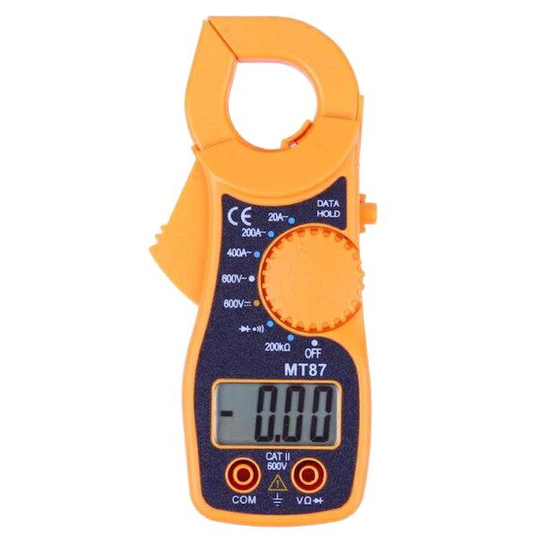 デジタルクランプメーター電流測定器AC/DC両用デジタルマルチメーター非接触で電流計測電流計電圧計抵抗/導通チェック機能テストリ