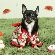 ワンコニャンコ着物和服犬服猫服晴れ着お祝いドッグウェアキャットウェアkrd03