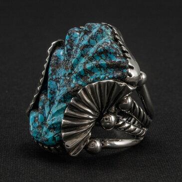インゴットシルバー リングINGOT SILVER RING インディアンジュエリー 指輪 ターコイズ FUNNY ファニー