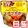 ゴロッと玉ねぎと骨付きチキンのスープカレー10個セット[レトルト]