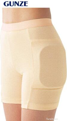 【グンゼ】婦人ヒッププロテクター女性用 サイズ:S~Lヒッププロテクター付き衝撃吸収パンツ...