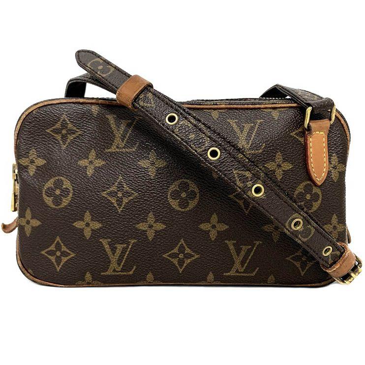 產品詳細資料,日本Yahoo代標|日本代購|日本批發-ibuy99|包包、服飾|包|女士包|單肩包/斜挎包|ルイ ヴィトン マルリー バンドリエール 茶色 モノグラム M51828 ショルダーバッグ ポシェ…