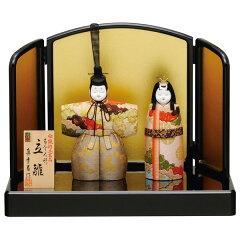 雛人形 ひな人形 木目込み人形 真多呂人形立雛飾り 伝統工芸品 「寿鳳立雛」