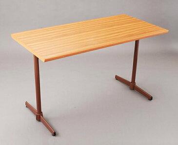 カフェテーブル コーヒーテーブル【 組立て式 ダイニング シンプル 】 テーブルメラミン化粧板(木ブチ仕上げ)W1200×D600(脚:Y-3)