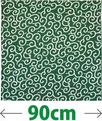 昔ながらの生地とデザイン 風呂敷 からくさ-緑(90cm)ふろしき【楽ギフ_のし宛書】