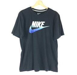 【古着】 NIKE ナイキ ロゴプリントTシャツ ブラック系 メンズM 【中古】 n002549