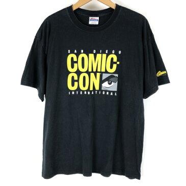 【古着】 SANDIEGO サンディエゴ COMIC-CON プリントTシャツ ブラック系 メンズXL 【中古】 n004950