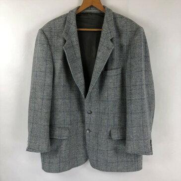 ハリスツイード walbusch ウールジャケット テーラードジャケット 格子柄 80年代 グレー系 メンズL