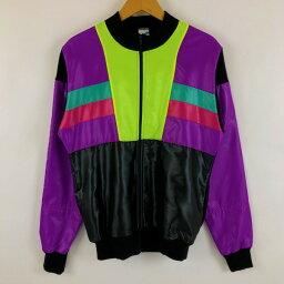 DECATHLON サイクリングシャツ サイクリングジャージ フルジップ ヴィンテージ 長袖 マルチカラー メンズL n023182