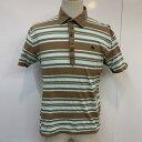BURBERRY BLACK LABEL バーバリーブラックレーベル 半袖 ポロシャツ Polo Shirt ボーダー ワンポイント【USED】【古着】【中古】10026080