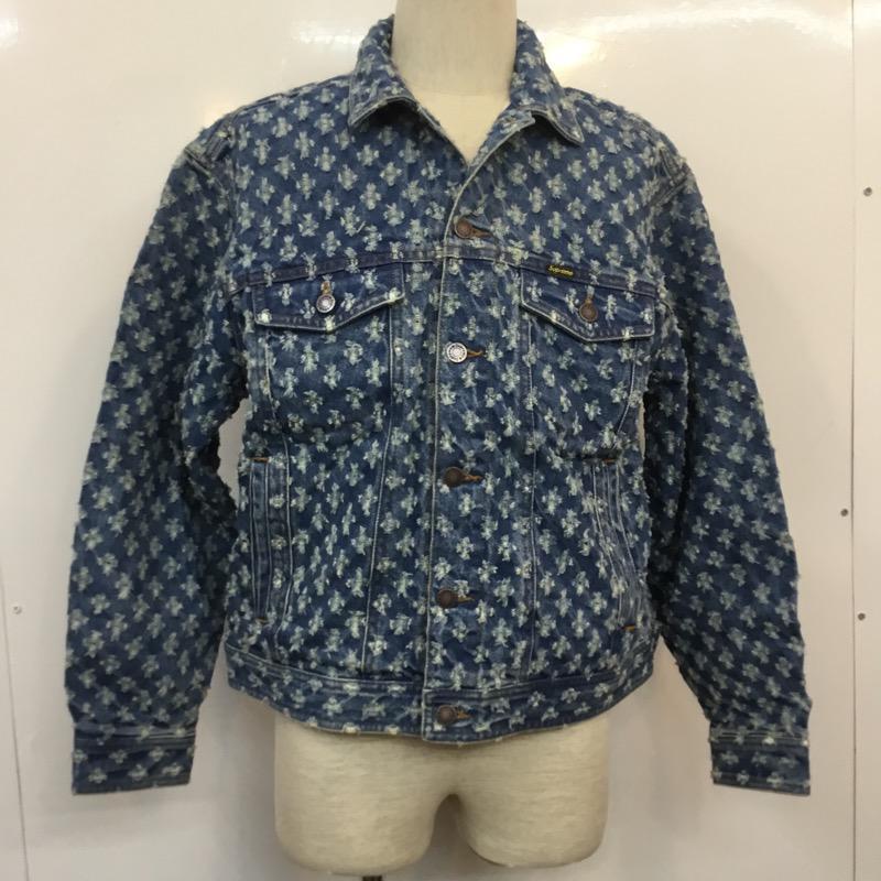 メンズファッション, コート・ジャケット Supreme Jacket Hole Punch Denim Trucker Jacket USED10036227