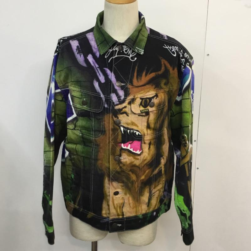 メンズファッション, コート・ジャケット Supreme Jacket Lions Den Denim Trucker JacketUSED10047163